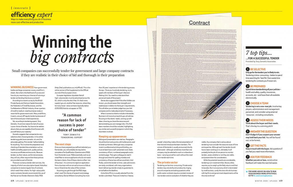 Winning the Big Contracts from BT Upload Magazine